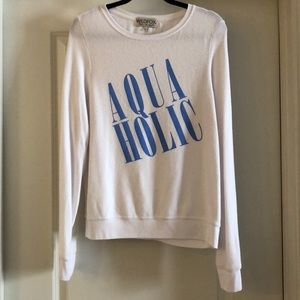 Wildfox white sweatshirt size medium